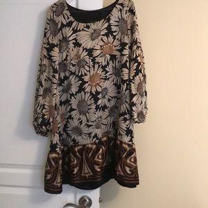 Cute empire waist silk dress from Zara!